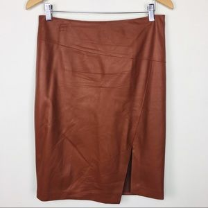 WHBM genuine leather skirt